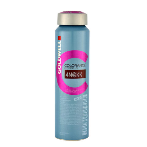 4N@KK Mid brown elumenated intense copper Goldwell Colorance Cover plus Elumenated naturals can 120ml