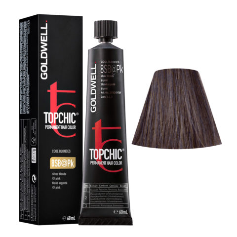 8SB@Pk Silver blonde elumenated pink Goldwell Topchic Cool blondes tb 60ml