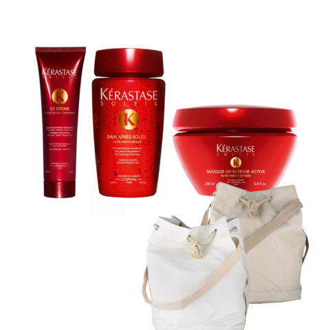 Kerastase Soleil Kit  CC Crème 150ml  Bain Photo-defense 250ml  Masque 200ml  Gratis Sun bag
