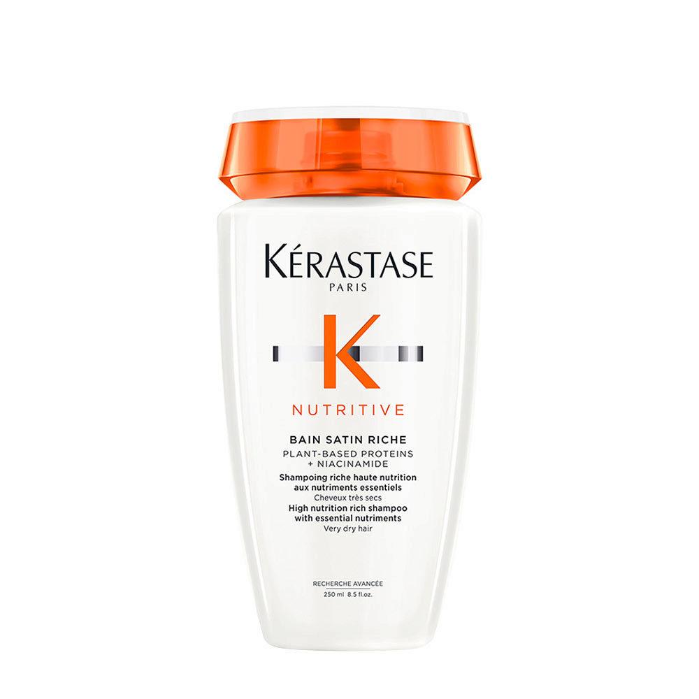 Kerastase Nutritive Bain satin 2, 250ml - Pflege-Shampoo für feines oder dickes trockenes und strapaziertes Haar