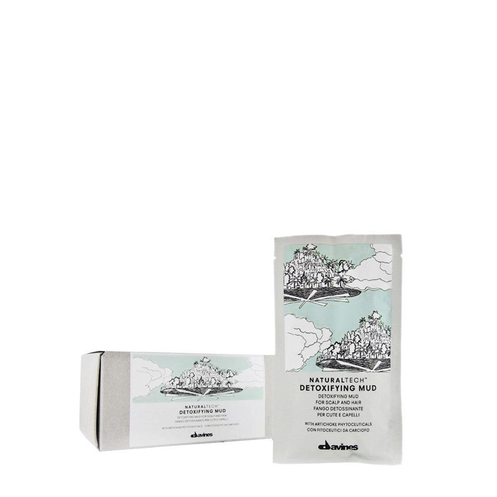 Davines Naturaltech Detoxifying Mud 6x50ml - Entgiftende Anti-Talg Fangokur