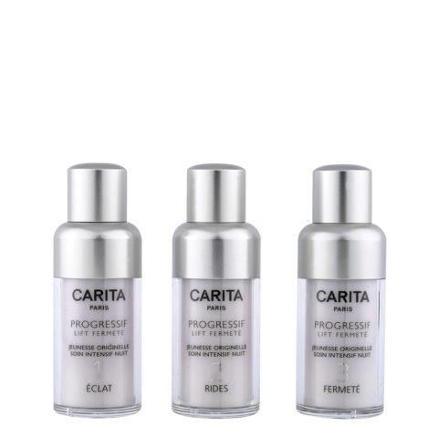 Carita Skincare Progressif Lift Fermetè Jeunesse Intensif Nuit 3X15ml - revitalisierendes Pflegeprogramm