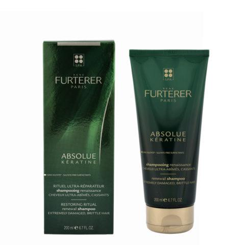 René Furterer Absolue Kératine - Aufbauendes Keratine Shampoo 200ml sehr geschädigtes, brüchiges Haar