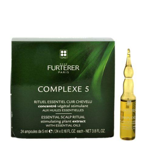 René Furterer Complexe 5 Stimulating Concentrate 24x5ml - ampullen-kur konzentrat