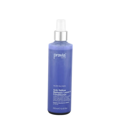 Previa Silver Blonde Anti-Yellow Biphasic Leave in Conditioner 250ml - anti-gebl Conditioner ohne Spülen