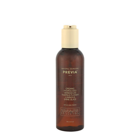 Previa Finish Organic Hydrolized Verbascum Thapsus Flower Luminous Shine Glaze 200ml Modellierflüssigkeit