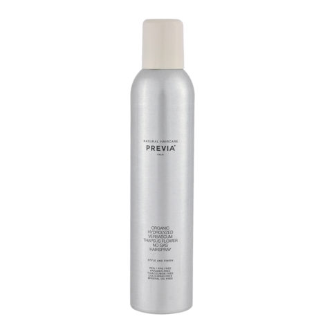 Previa Finish Organic Hydrolized Verbascum Thapsus Flower No Gas Hairspray 350ml