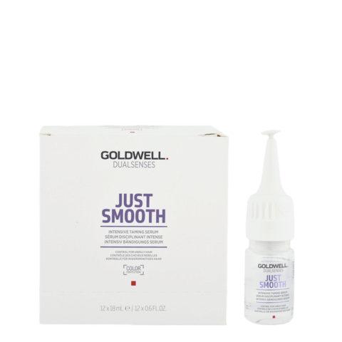 Goldwell Dualsenses Just Smooth Intensive Taming Serum 12x18ml - Intensiv Bändigungs Serum