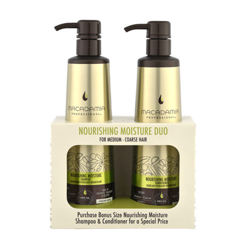 Macadamia Nourishing Moisture Duo: Shampoo 500ml Conditioner 500ml