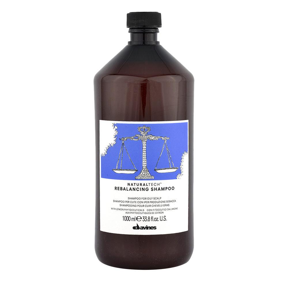 Davines Naturaltech Rebalancing Shampoo 1000ml - Normalisierendes Shampoo