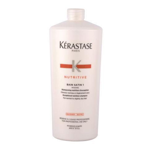 Kerastase Nutritive Bain satin 1, 1000ml - Pflege-Shampoo für normales bis leicht trockenes Haar