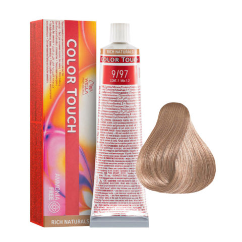 9/97 Lichtblond Cendre-braun Wella Color Touch Rich Naturals ammoniakfrei 60ml