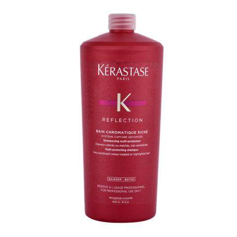 Kerastase Reflection Bain Chromatique Riche 1000ml - shampoo für coloriertes, sehr strapaziertes, kräftiges Haar