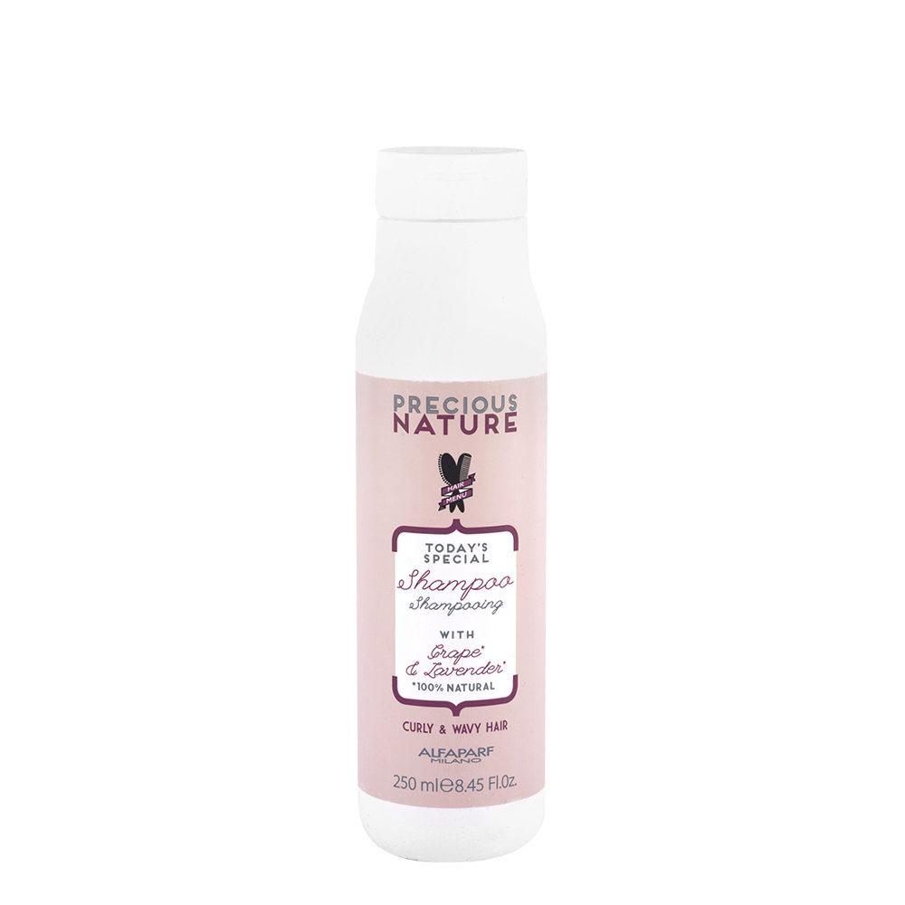 Alfaparf Precious Nature Shampoo With Grape & Lavender For Curly & Wavy Hair 250ml - FüR Lockiges Und Welliges Haar