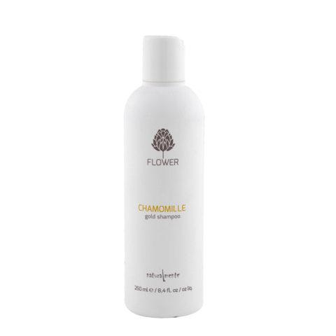 Naturalmente Flower Shampoo Chamomile 250ml Tägliches Shampoo für blondes Haar