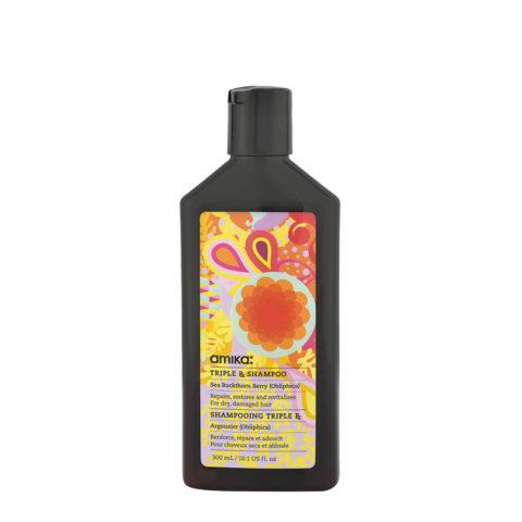 amika: Treatment Triple Rx Shampoo 300ml - shampoo mit keratine für strapaziertes Haar