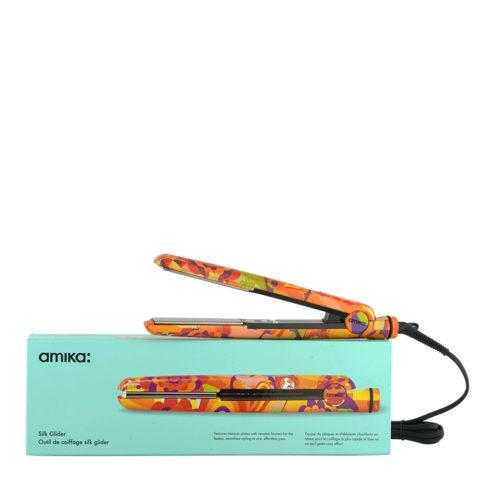 amika: Glätteisen Digital Titanium Styler Obliphica Silk Glider - professionelles Glätteisen