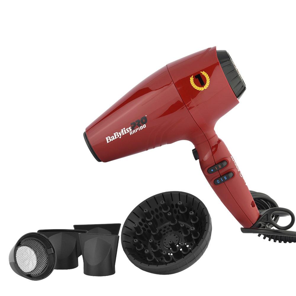 Babyliss Pro Haartrockner Rapido Red BAB7000IRE - Rot