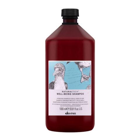 Davines Naturaltech Wellbeing Shampoo 1000ml - Feuchtigkeitsspendendes Shampoo