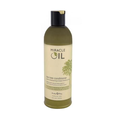 Earthly Body Miracle Oil Tea Tree Conditioner 473ml - feuchtigkeitsspendende Haarspülung ohne Sulfate