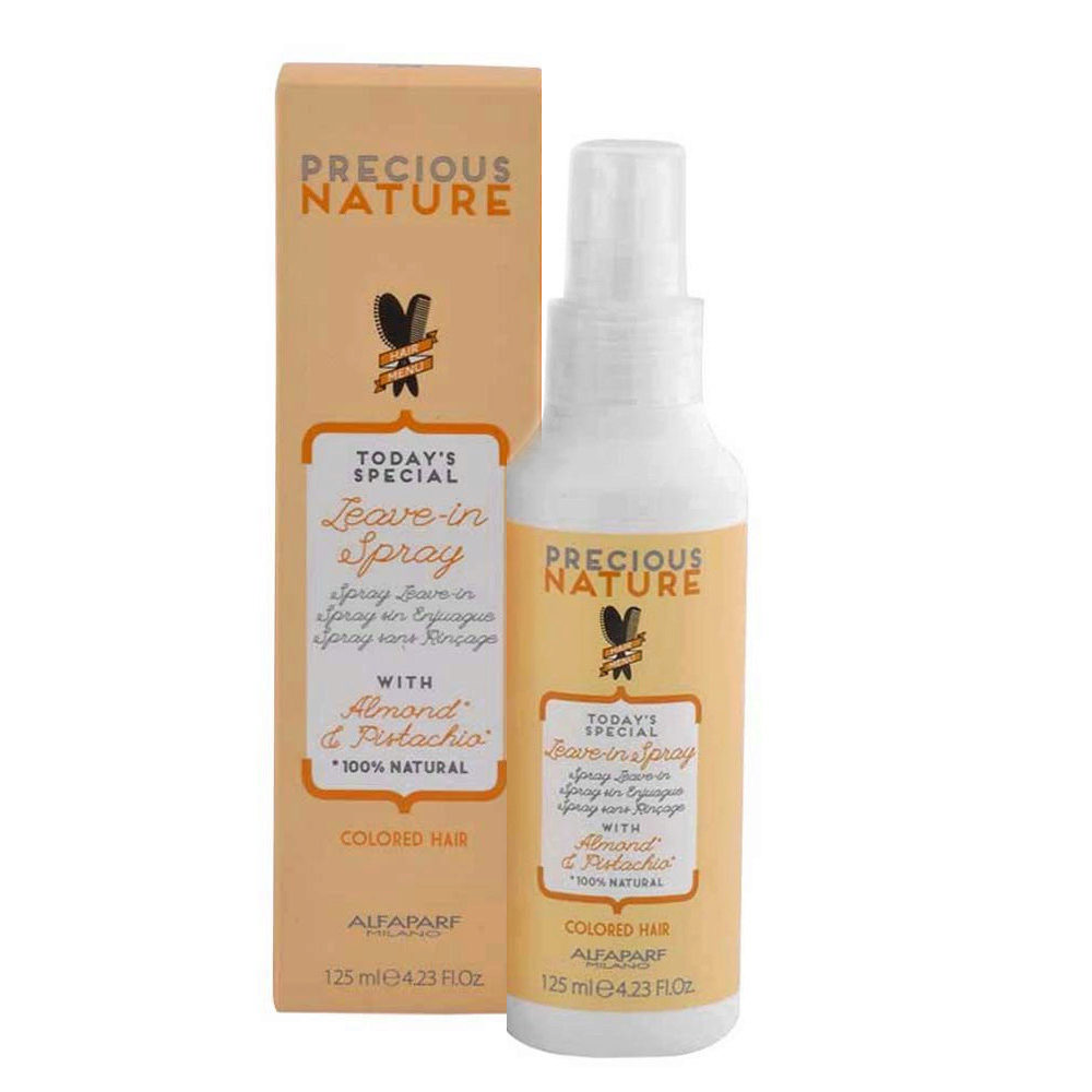 Alfaparf Precious Nature Leave-In Spray With Almond & Pistachio For Colored Hair 125ml - Conditioner Ohne SpüLung