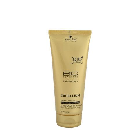 Schwarzkopf BC Excellium Taming Shampoo 200ml - Shampoo für reife und dicke Haare