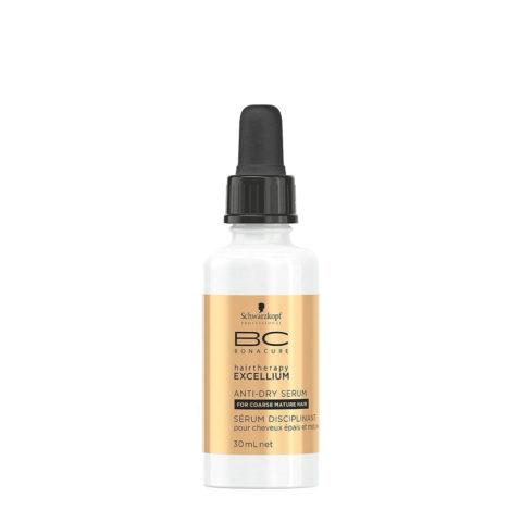 Schwarzkopf BC Excellium Anti-dry Serum 30ml - disziplinäres und feuchtigkeitsspendendes Serum