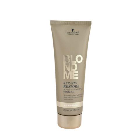 Schwarzkopf Blond Me Keratin Restore Bonding Shampoo Sulfate free 250ml - Rekonstruktion Shampoo