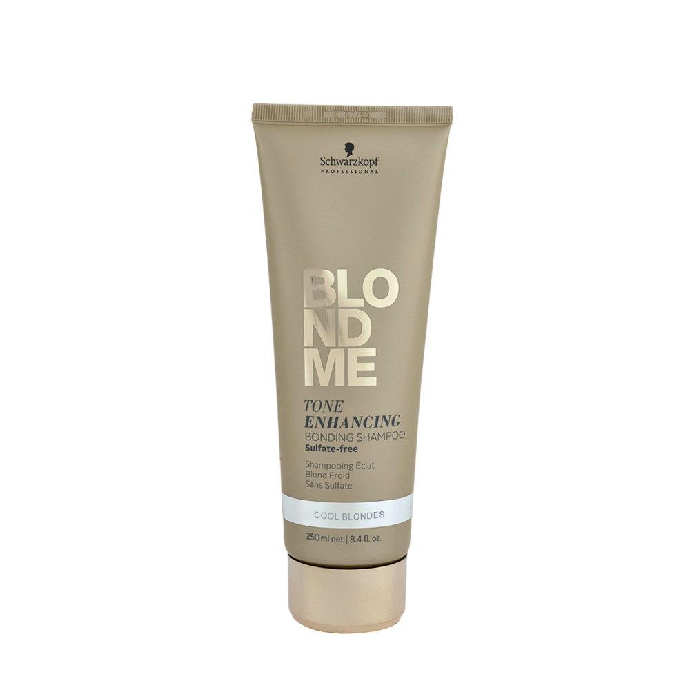 Schwarzkopf Blond Me Tone Enhancing Bonding Shampoo Sulfate free 250ml - neutralisierendes Shampoo mit Gelbtönen