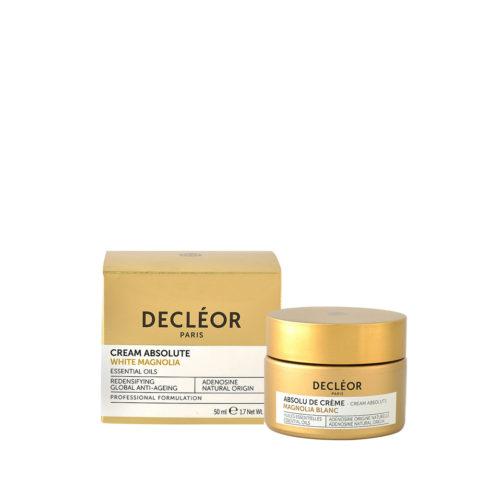 Decléor Cream Absolute White Magnolia 50ml - Gesicht Tagespflege