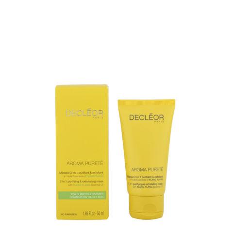 Decléor Aroma Pureté Ylang-Ylang Masque 2 en 1 purifiant & exfoliant 50ml - 2-in-1 Reinigung & Peeling