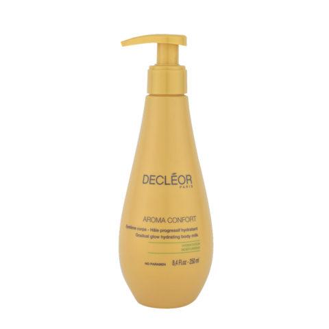 Decléor Aroma Confort Hâle Progressif Hydratant 250ml -  feuchtigkeitsspendende Körpermilch mit Bräunungseffekt