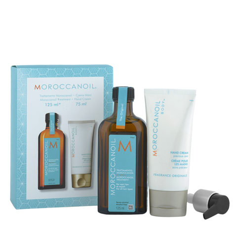 Moroccanoil Kit  Oil treatment 125ml   Hand Cream 75ml