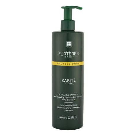 René Furterer Karité Hydrating ritual Shine Shampoo 600ml feuchtigkeitsspendendes Shampoo für trockenes Haar