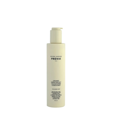 Previa Organic Green walnut colour shine Conditioner 200ml - gefärbtes Haar Conditioner