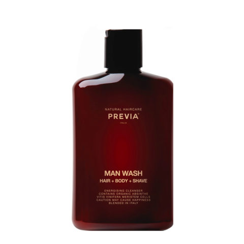 Previa Man Wash hair body shave 250ml - Mann Duschshampoo