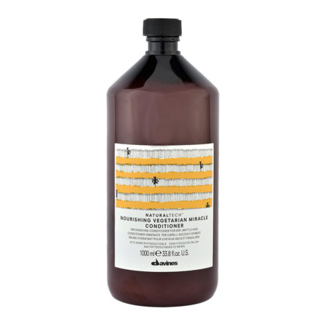 Davines Naturaltech Nourishing Vegetarian Miracle Conditioner 1000ml - Restrukturierende