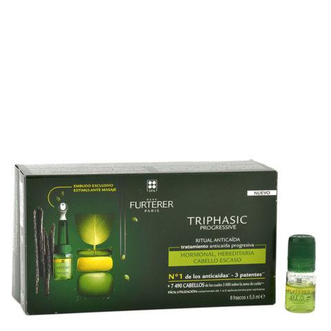 René Furterer Triphasic Vht Regenerierendes Serum gegen Haarausfall 8x5,5ml