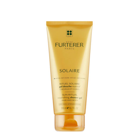 René Furterer Solaire Nourishing Shower Gel Hair and Body 200ml Pflegendes Körper-Duschgel & After-Sun-Haar