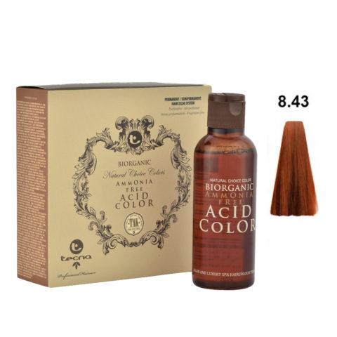 8.43 Hell goldblond kupfer Tecna NCC Biorganic acid color 3x130ml