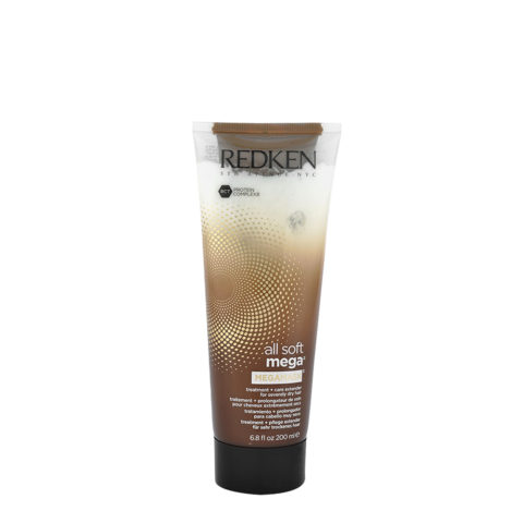 Redken All soft mega Megamask 200ml - Intensivbehandlung für mittel bis dickem, trockenem Haar