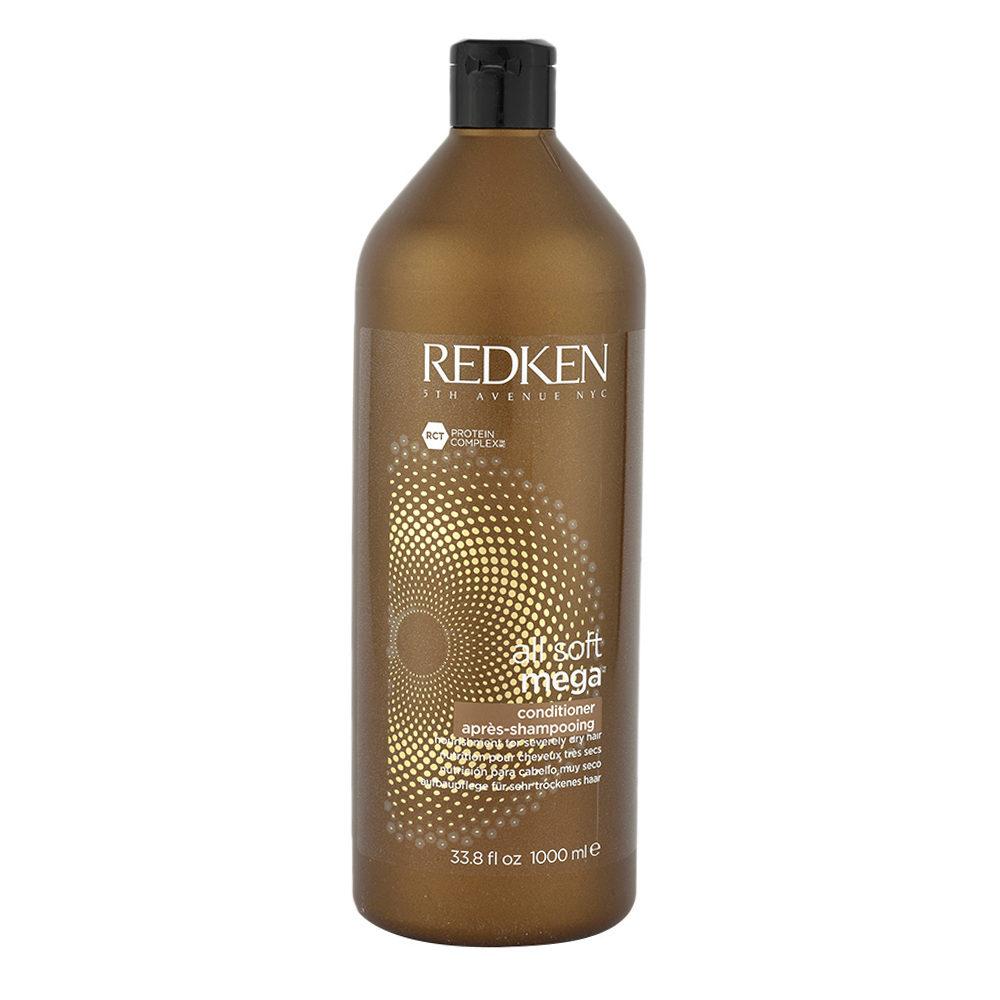 Redken All soft mega Conditioner 1000ml - für mittel bis dickem, trockenem Haar