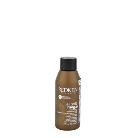 Redken All soft mega Shampoo 50ml - für mittel bis dickem, trockenem Haar