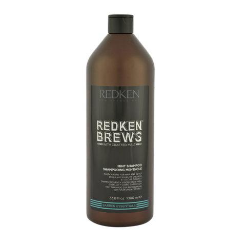 Redken Brews Man Mint Shampoo 1000ml - erfrischendes Minz shampoo