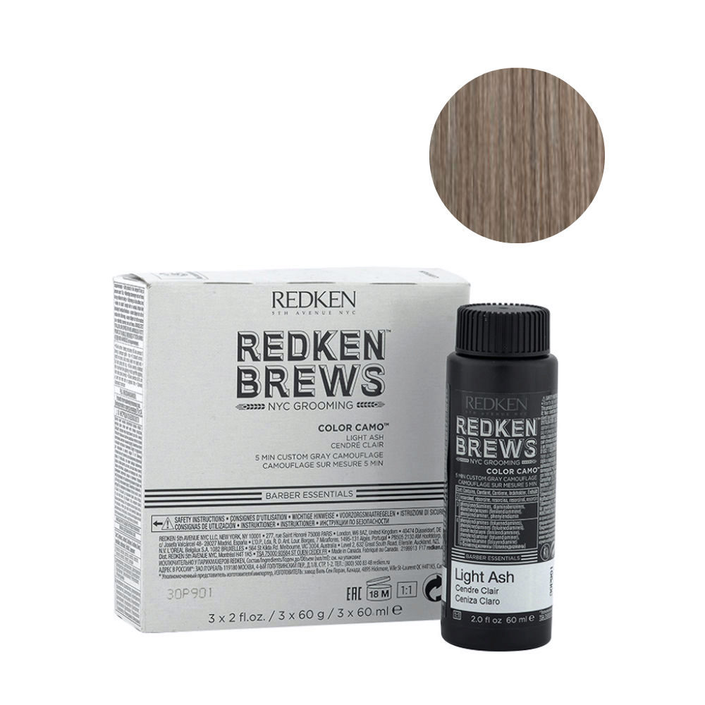 Redken Brews Man Color camo Light ash 3x60ml