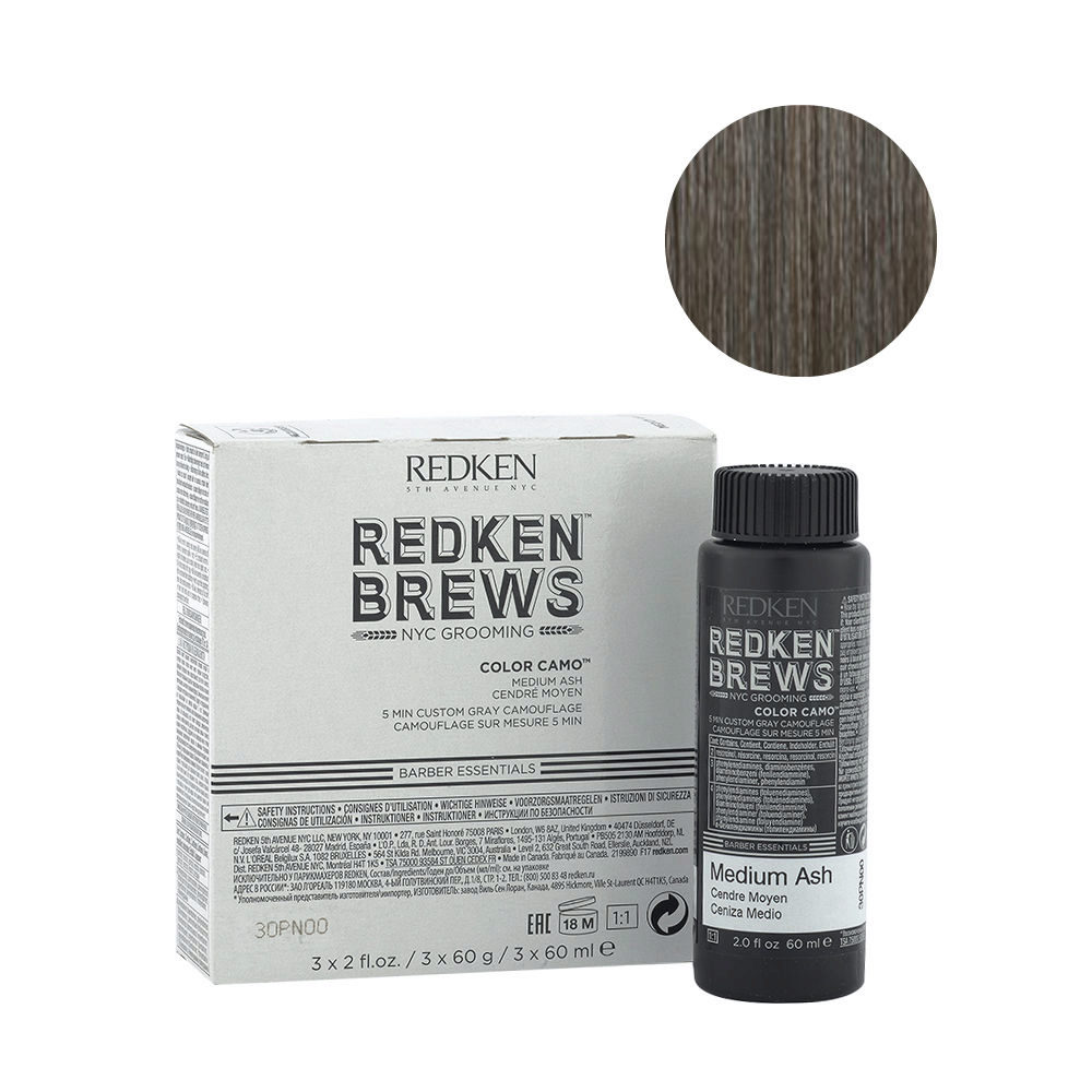Redken Brews Man Color camo Medium ash 3x60ml