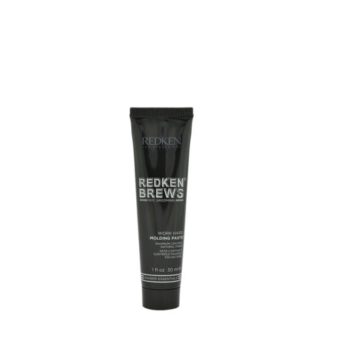 Redken Brews Man Work hard Molding paste 30ml - Haarpaste maximale Kontrolle