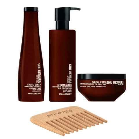 Shusu Sleek Kit2 Shampoo 300ml Conditioner 250ml Mask 200ml - free comb