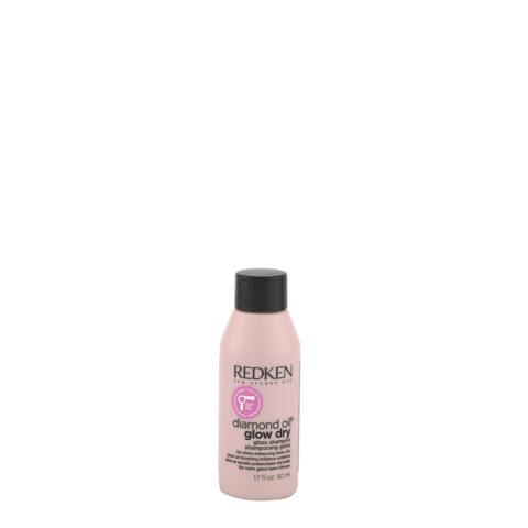 Redken Diamond Oil Glow Dry Gloss Shampoo 50ml - für glänzende Haare, für alle Haartypen