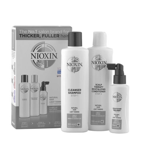 Nioxin System1 XXL Haarausfall Kit Shampoo 300ml + Conditioner 300ml + Behandlung 100ml